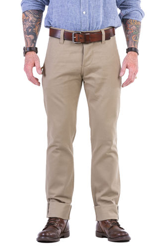Chinohose Beige Selvage